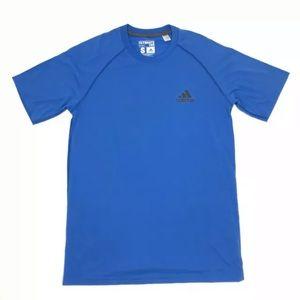 Adidas Ultimate Tee Shirt Men Small Blue Climalite